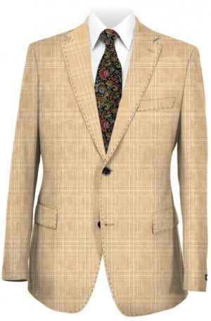Michael Kors Tan Pattern Tailored Fit Suit K2Z1259