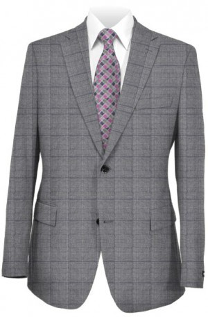 Michael Kors Gray Pattern Tailored Fit Suit K2Z1543