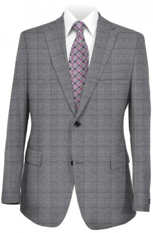 Michael Kors Gray Pattern Tailored Fit Suit #K2Z1543