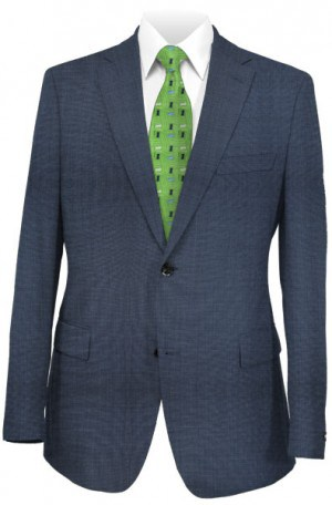 Michael Kors Blue Sharkskin Tailored Fit Suit K2Z1545