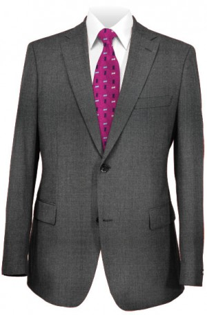 Michael Kors Charcoal Peak Lapel Tailored Fit Suit #K2Z1551