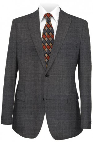 Michael Kors Dark Gray Solid Color Slim Fit Suit #K2Z2061