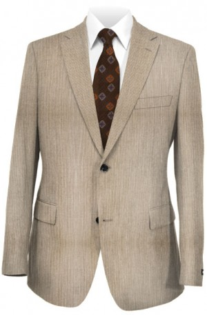 Michael Kors Tan Fineline Slim Fit Summer Suit #KAZ0091