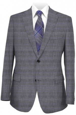 Michael Kors Gray Pattern Tailored Fit Suit KFZL860