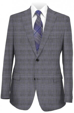 Michael Kors Gray Pattern Tailored Fit Suit #KFZL860