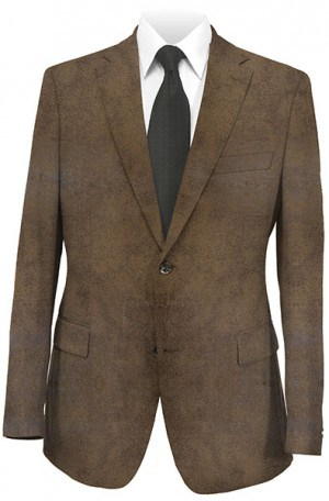 Michael Kors Brown Faux Leather Sportcoat #KMW0000