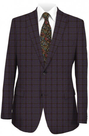 Michael Kors Blue and Burgundy Check Sportcoat #KNZ1014