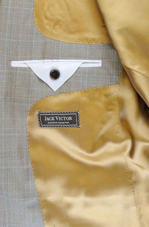 Jack Victor Tan Pattern Suit #L0503