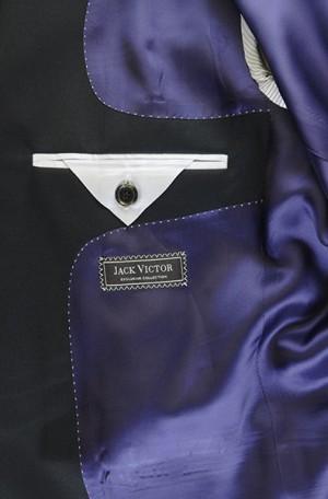 Jack Victor Black Solid Color Suit L9213A