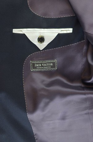 Jack Victor Navy Solid Color Suit #L9215A