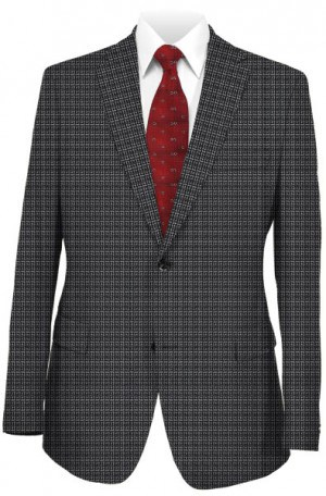 Tiglio Black & White Pattern Tailored Fit Sportcoat #LG8422M-333-1