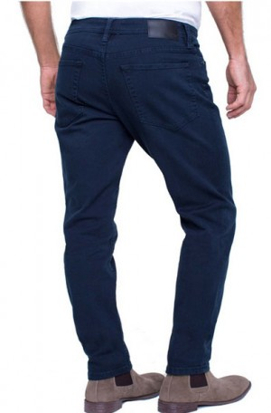 """Brit Britches"" Blue Slim Straight Leg Jeans from Liverpool #LGS300DC34-420"