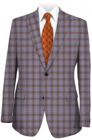 Tiglio Blue & Tan Pattern Tailored Fit Sportcoat #LR74317-2