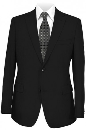 Andrew Marc Black Solid Color Slim Fit Suit #MAY0000