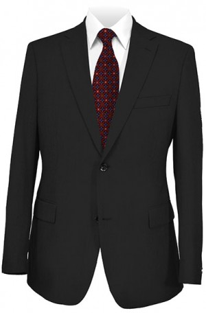 Andrew Marc Black Solid Color Slim Fit Suit #MAY0012