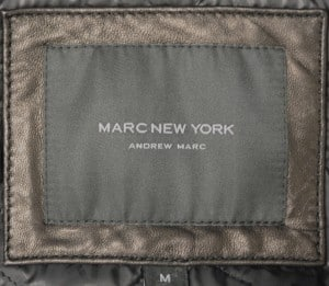 Marc New York Black Leather Car Coat