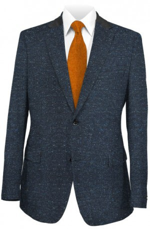 Andrew Marc Blue Tweed Tailored Fit Sportcoat #MQY0001