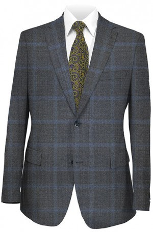 Mattarazi Gray Pattern Suit #P40100-2