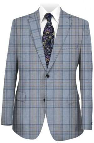Tiglio Blue Pattern Tailored Fit Sportcoat #R74223-6