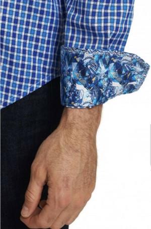Robert Graham 'Gainsford' Classic Fit Shirt #RS191001CF-BLUE