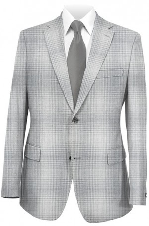 Tiglio Gray Plaid Tailored Fit Sportcoat RS4256-1