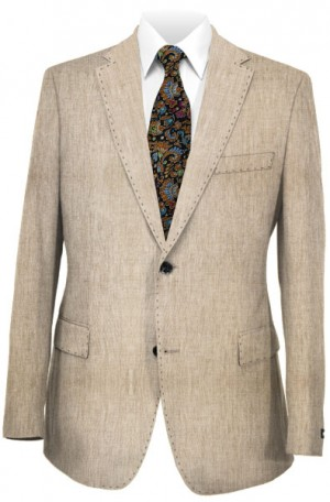Tiglio Natural Color Linen Tailored Fit Suit #RS5619-5
