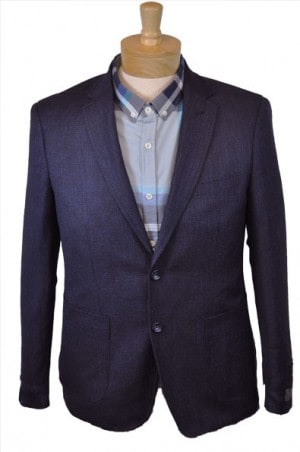 'Like No Other' Slim Fit Navy & Blue Sportcoat #S17022OLB