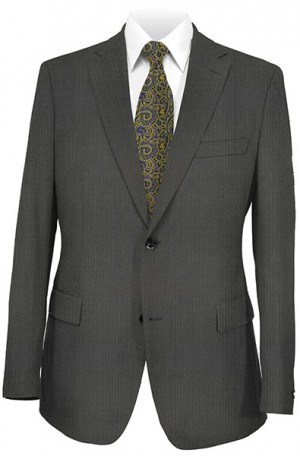 Mattarazi Dark Gray Fineline Suit #SH0033