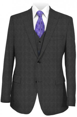 Tiglio Charcoal Pattern Tailored Fit 3-Piece Suit T150101-2