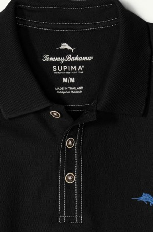 Tommy Bahama Black Tropicool Pique Spectator Polo #T216945-023