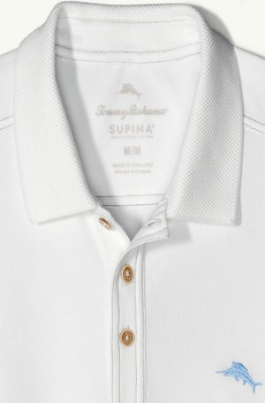 Tommy Bahama White Tropicool Pique Spectator Polo #T216945-3220
