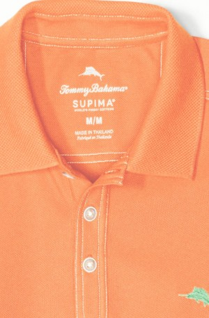 Tommy Bahama Peachy Orange Tropicool Pique Spectator Polo #T216945-4889