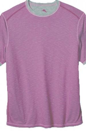 Tommy Bahama Lavender Flip Tide Reversible Tee Shirt #T218029-12755