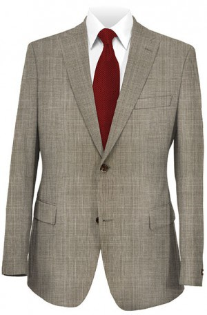 Tiglio Taupe Tailored Fit Vested Suit T2980-2020
