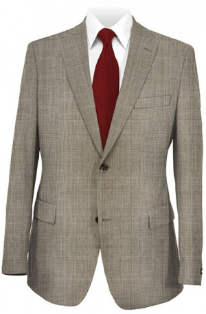 Tiglio Taupe Tailored Fit Vested Suit #T2980-2020