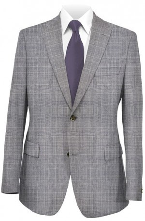Tiglio Gray Plaid Tailored Fit Vested Suit T2981-1634