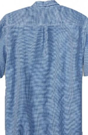 Tommy Bahama Blue Check Linen Blend Shirt #T317359-10710