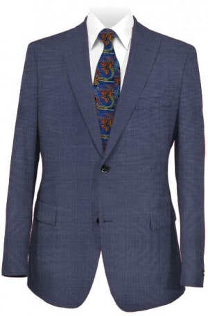 Tiglio Blue Tonal Pattern Tailored Fit Vested Suit TH1001
