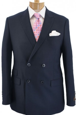 Tiglio Navy Double Breasted Tailored Fit Suit #TIG-1002DB