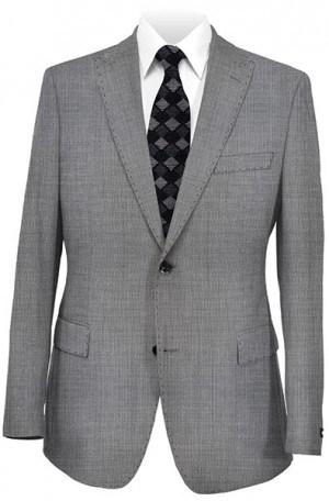 Tiglio Black & White Birdseye Tailored Fit Suit TIG-1018