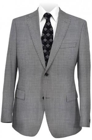 Tiglio Black & White Birdseye Tailored Fit Suit #TIG-1018