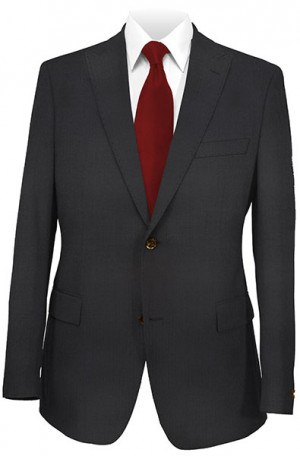 Tiglio Black Fine Herringbone Tailored Fit Vested Suit TIG1072