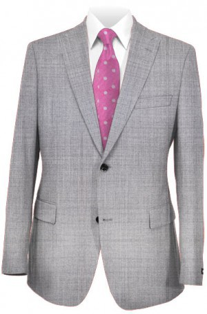 Tiglio Silver Gray Tailored Fit Vested Suit TS1018