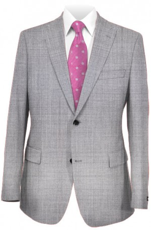 Tiglio Silver Gray Tailored Fit Vested Suit #TS1018
