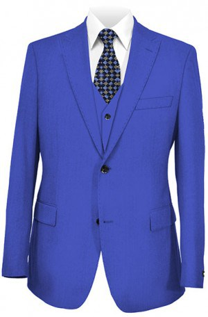Tiglio Bright Royal Tailored Fit Vested Suit TS4002