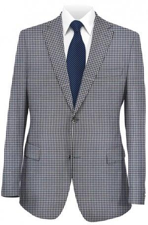 Tiglio Blue Check Tailored Fit Sportcoat #TS4170-2