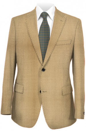 Tiglio Tan Tailored Fit Vested Suit TS4177-1