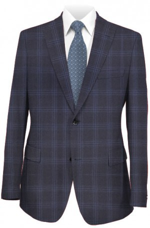 Tiglio Black Pattern Tailored Fit Vested Suit TS4179-2