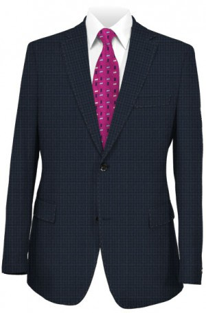 Tiglio Navy Pattern Slim Fit Suit TS6053-4