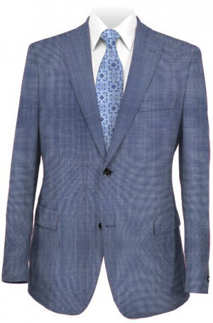 Tiglio Light Blue Tailored Fit Vested Suit TS6082-7